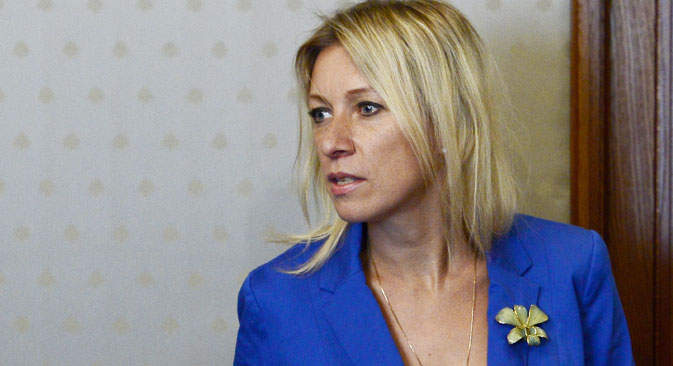 "Maria Zakharova: ""Journalists have no right to use stereotypes."" Source: Getty Images"