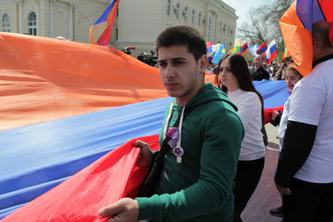 Commemorating victims of the 1915 genocide of the Armenians in the Ottoman empire. Source: PhotoXPress