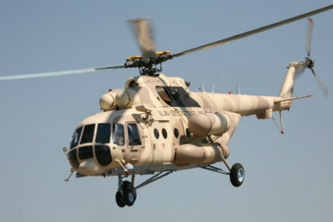 The Mi-17 helicopter.