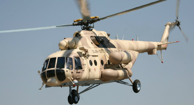 The Mi-8/17 helicopter. Source: Russianhelicopters.aero/en/