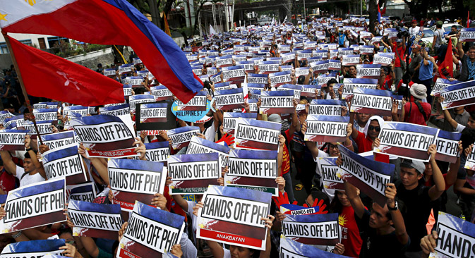 The Philippines turns to Russia to help ease tensions in the Asia-Pacific. Source: Reuters