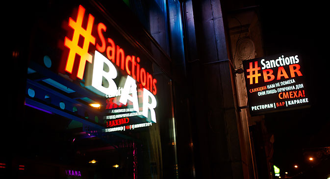 A Moscow bar called Sanctions is making the most of a bad situation. Source: PhotoXPress