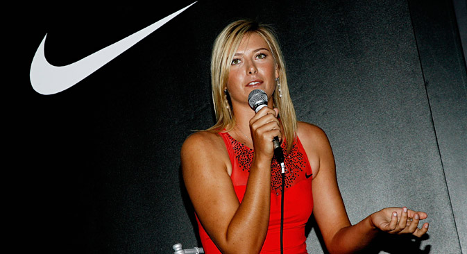 Maria Sharapova signed her first promotional contact as early as 11. Source: Getty Images
