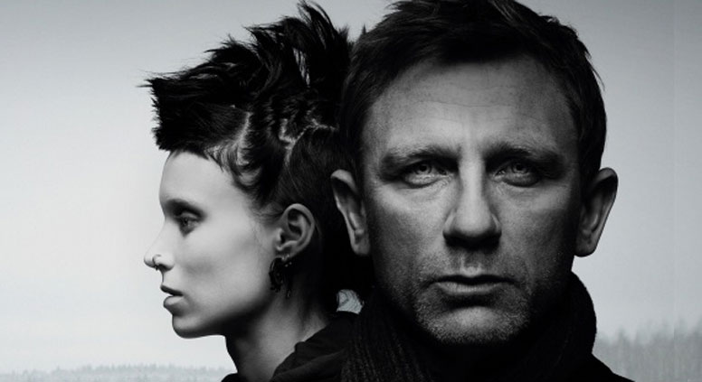 A poster from 'The Girl with the Dragon Tattoo' movie, 2011. Source: kinopoisk.ru