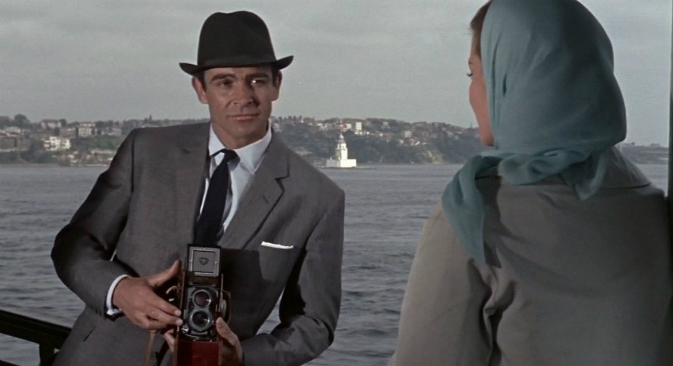 A still from  the second James Bond film, From Russia with Love (1963). Source: Kinopoisk.ru