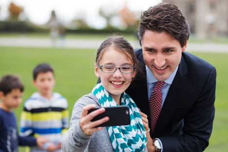 New Canadian Prime Minister Justin Trudeau. Source: EPA