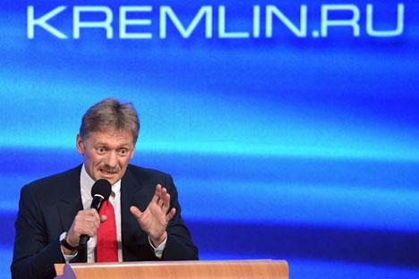 Kremlin spokesman Dmitry Peskov.