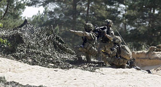 British Ghurkas attend the multinational NATO exercise Saber Strike in Adazi, Latvia, June 11, 2015. Source: Reuters