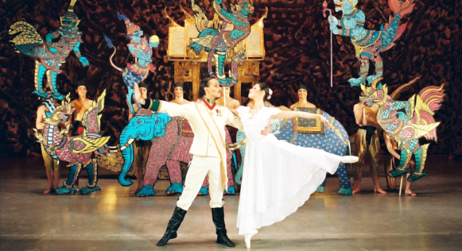 The Kremlin Ballet Theatre, St Petersburg State Symphony Orchestra, The Moscow Stanislavsky Ballet and the Mariinsky Theatre perform the tale of love between the Russian girl Katya Desnitskaya and the Prince of Siam on stage. Source: Press photo
