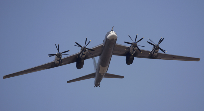TU-95MS heavy bomber at Alabino range near Moscow, 2010. Source:  Anton Denisov / RIA Novosti