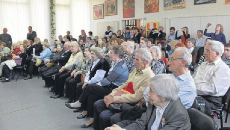 'Niños de la guerra' en el Centro Español de Moscú en un evento.