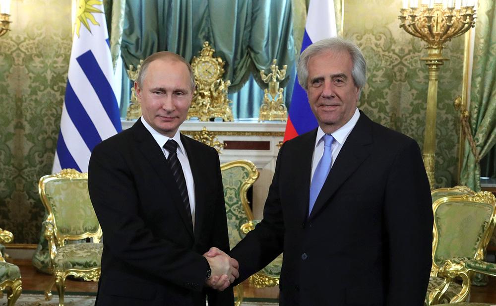 Putin y Vázques en Moscú, el 16 de febrero, 2017.