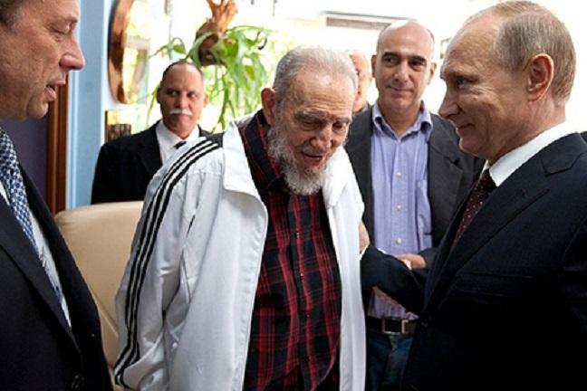 Fidel Castro e Vladimir Putin a La Havana, luglio 2014. Fonte: Kremlin.ru