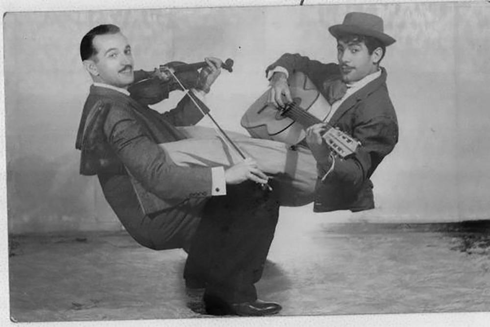 El dúo Shilinsky (izquierda) y Manolín.