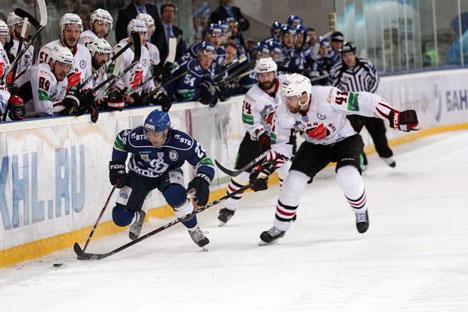 Lance de la final de la KHL, entre el Dinamo de Moscú y el Avangard (Fuente: dynamo.ru)