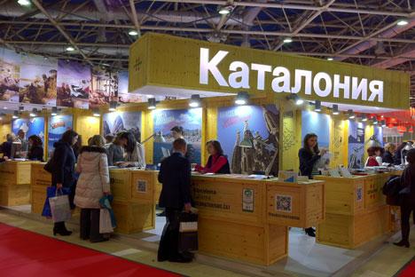 El estand de Turisme de Catalunya en la última edición del MITT, en Moscú. Autor: Generalitat de Catalunya.