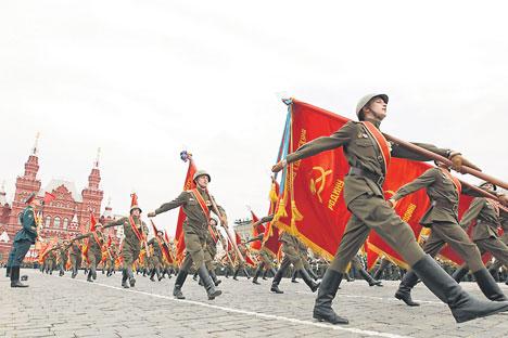 Desfile del Día de la Victoria en la Plaza Roja de Moscú. Fuente: Itar Tass
