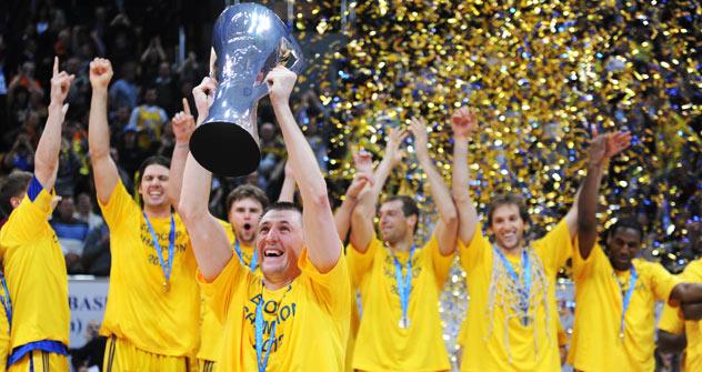 200 aficionados valencianos se desplazaron a Moscú para seguir la F4 de la Eurocup (M. A. Polo / Valencia Basket)