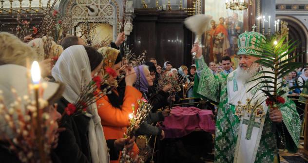 Los ortodoxos celebran su Semana Santa con ritos y símbolos particulares. Foto de Ria Novosti