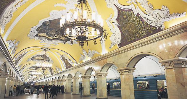 La estación de metro de Mayakóvskaya. Fuente: Lori/ Legion Media.