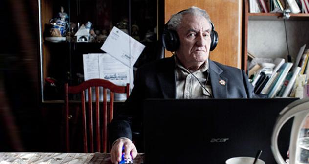 Dimitri Lomonósov, el  bloguero ´lomonosov´, uno de los usuarios más antiguos de LiveJournal. Foto de Kommersant