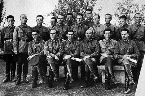 : Españoles en el ejército soviético.  Archivo: Asociación de Descendientes de Exilio Español.