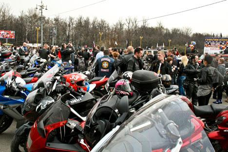 Concentración de motos en Moscú. Fuente: Anastasia Yúdina.
