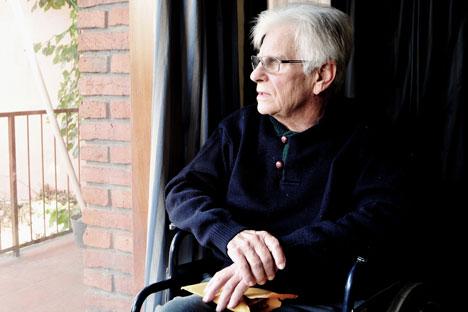 Sergio Fleginsky, una de las pocas personas residentes en Uruguay que sufrió la invasión de la URSS por parte de la Alemania nazi en 1941. Fuente: Marcelo Gómez.
