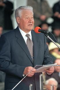 Borís Yeltsin, primer presidente de Rusia tras la Guerra Fria.  Fuente: Itar Tass.