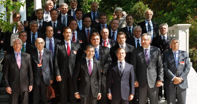 Los próximos días 20 y 21 de mayo se celebrará el encuentro sin que haya una cumbre del Consejo OTAN-Rusia. Foto de AP Photo/RIA Novosti, Vladimir Rodionov, Presidential Press Service