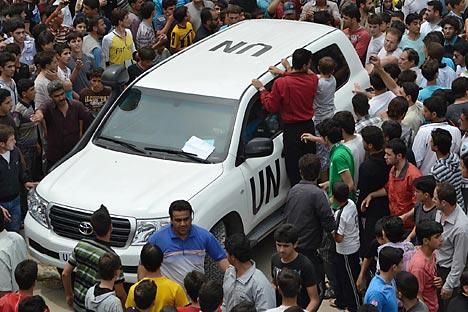 La situación en Siria exige la aplicación del artículo 7 de la Carta de las Naciones Unidas. Fuente: AP.