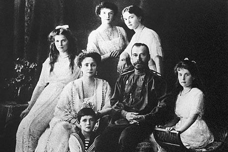 El zar Nicolás II y su familia. Fuente: Itar Tass.