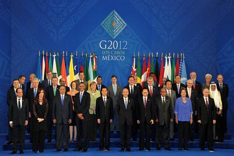 Reunión del G 20 en México. Fuente: Flickr.