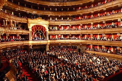 El teatro Bolshói de Moscú. Foto de Itar Tass.