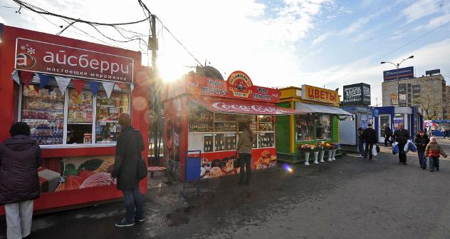 El proyecto de ley asestará un duro golpe al pequeño negocio, concretamente a los kioscos. Fuente: Itar Tass.