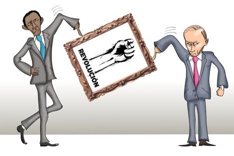 Moscú, Pekín y otros países BRICS son partidarios de conservar el principio de no injerencia en los asuntos internos de estados soberanos. Dibujo de Niyaz Karim.