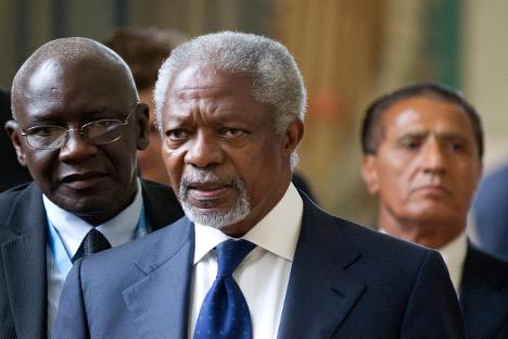 Kofi Annan, mediador enviado especial para Siria. Fuente: Reuters.
