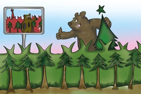 La participación de los distritos de Siberia y Extremo Oriente en el PIB de Rusia se ha reducido de un 16,4% en 2001 a un 16% en 2011. Dibujo de Niyaz Karim.