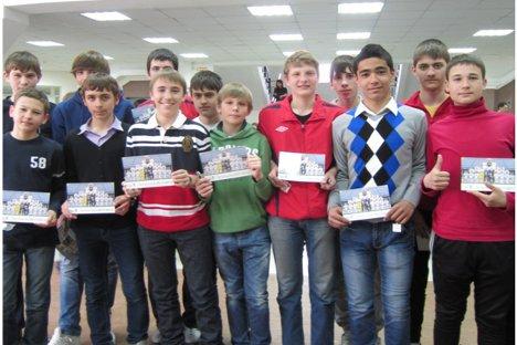 Un grupo de niños de Rostov durante la visita técnica de la Fundación RM en marzo. Fuente: Fundación RM.