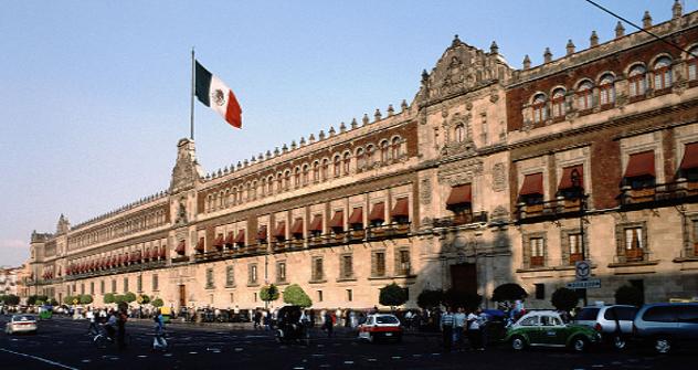 El palacio presidencial de México. Fuente: Flickr