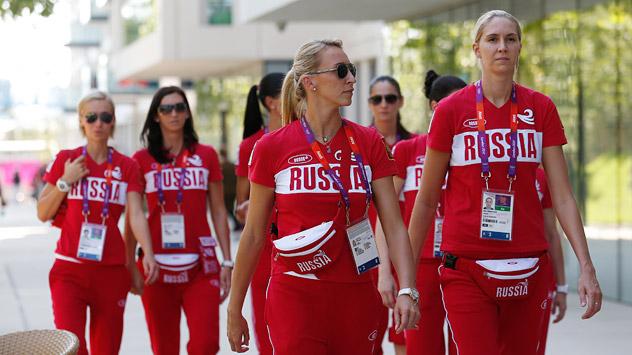 La selección olímpica femenina rusa suma 228 frente a 208 hombres. Fuente: AP.