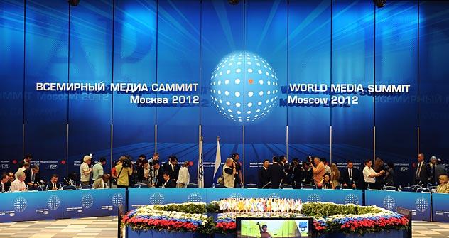 Cumbre Mundial de Medios de Comunicación celebrada en Moscú. Fuente: Itar Tass.