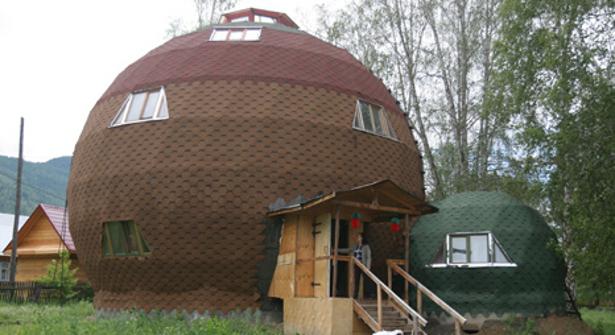 La forma esférica es característica de este tipo de casas. Fuente: RIA Novosti.