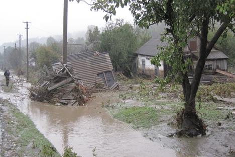 la inundación de la noche. Fuente: ITAR-TASS