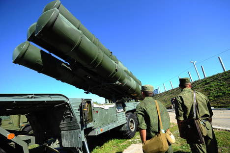 Sistema de armamento antiaéreo Triumf S-400. Fuente: Ria