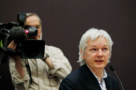 El australiano Julian Assange, de 41 años, solicitó asilo a mediados de junio en la embajada de Ecuador en Londres. Fuente: AP.