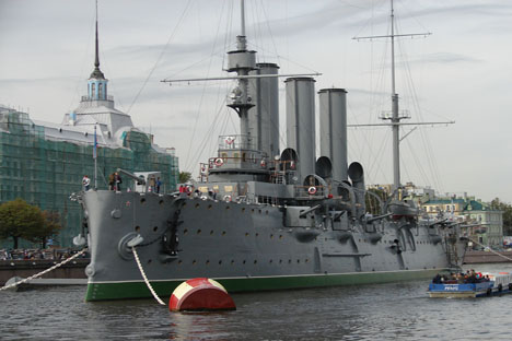El crucero Aurora. Fuente: Wikipedia / Vargher