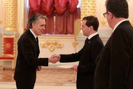 Presentación de credenciales ante Dimitri Medvédev. Fuente: Embajada de España.