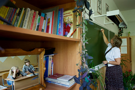 Este año el Departamento de Educación de la región de Vladímir reconoció a Mosevnina como uno de los mejores maestros de la región. Fuente: Kommersant.