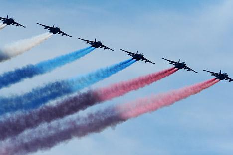 Demostración aérea. Fuente: Ramil Sitdikov/ RIA Novosti.